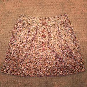 Anthro elevens velvet skirt
